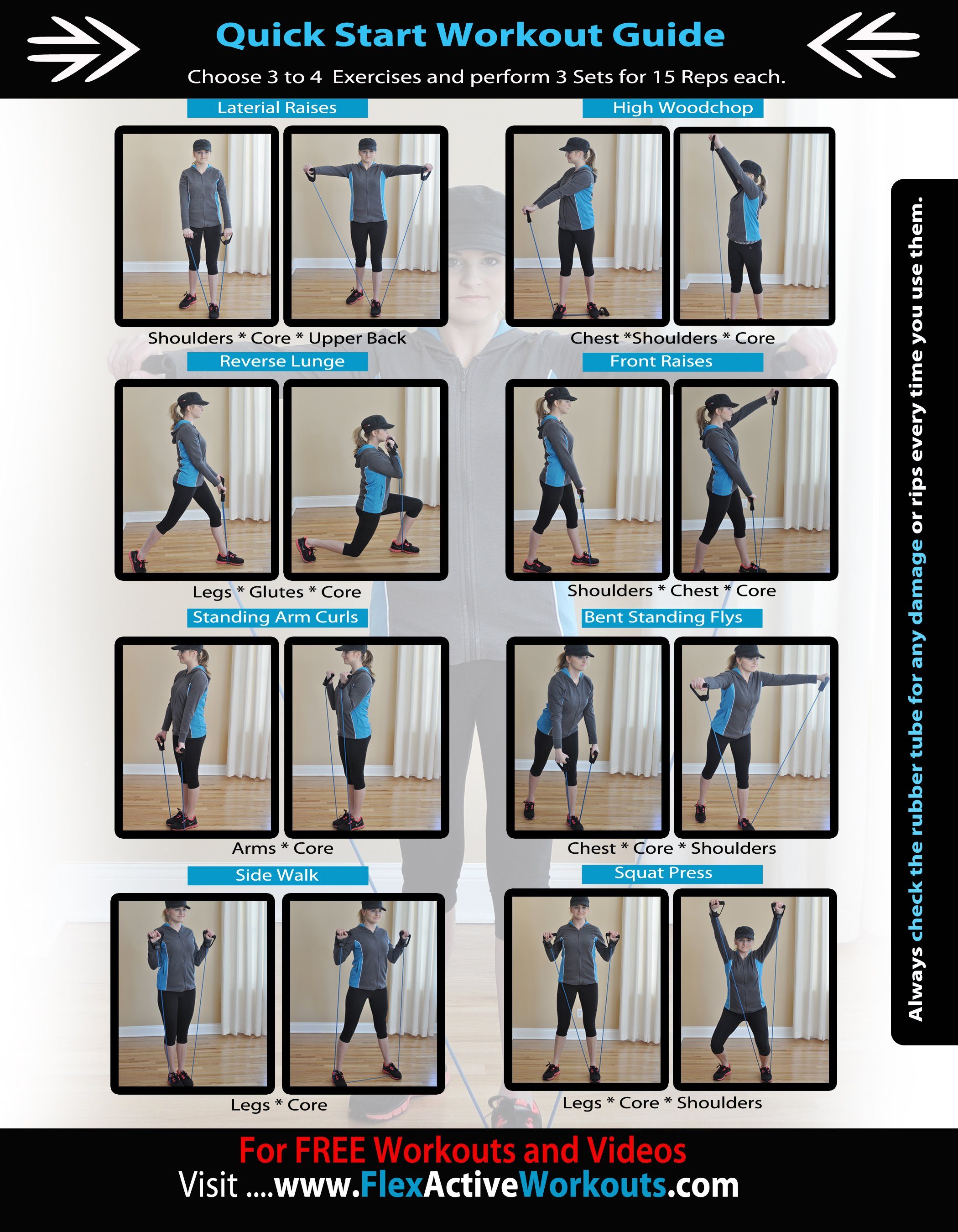photo regarding Printable Resistance Band Exercise Chart Pdf referred to as Resistance Band Training Workouts Pdf