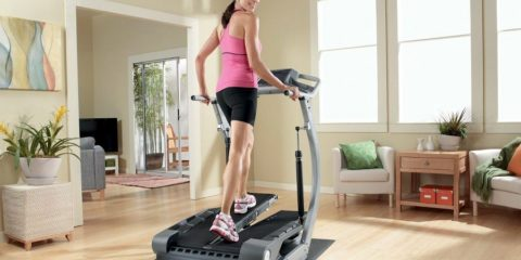 Women at Home Treadmill