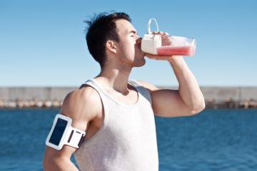 Man Drinking Post Workout Protein Shake