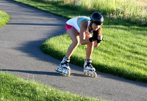 Outdoor Rollerblading Cardio Workout