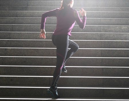 Step Running On Stairs Workout