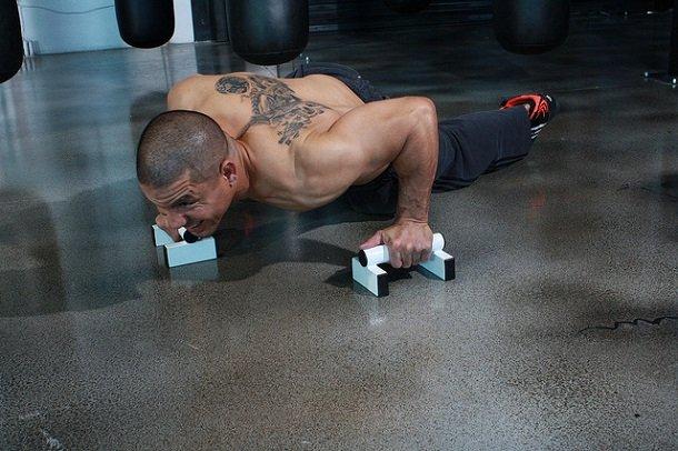 push up bar exercises