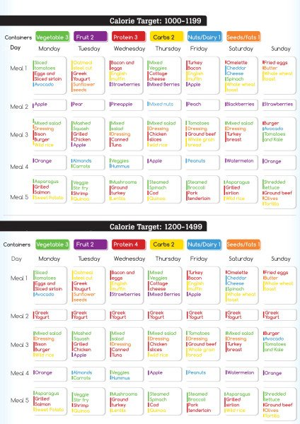 21 day sample meal plan