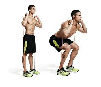 resistance bands squat