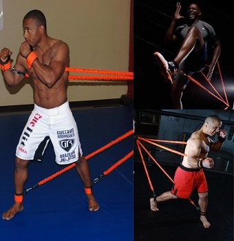 boxing with resistance bands