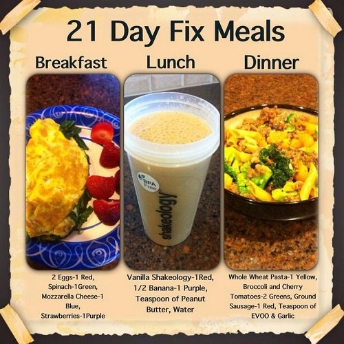 21 day fix meal