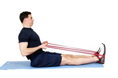 resistance bands seated row