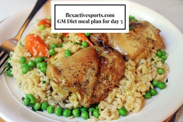 flexactivesports.com GM Diet meal plan for day 5