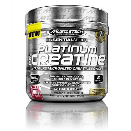 MuscleTech Platinum 100% Creatine  on White Background