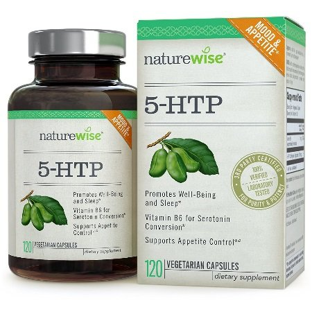 NatureWise 5HTP - Supports Appetite Suppression, Mood, Stress, and Sleep, 120 Vegetarian Capsules