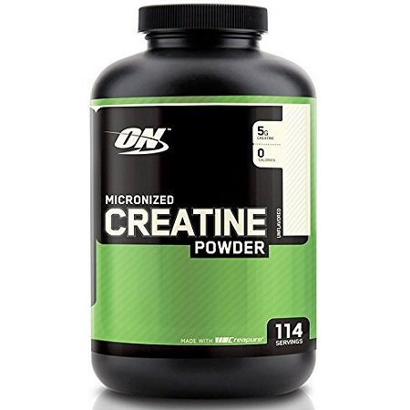 Optimum Nutrition Creatine Powder on White Background