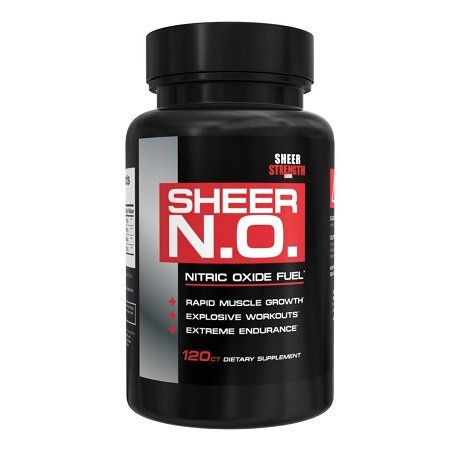 Sheer N.O. Nitric Oxide Booster on White Background