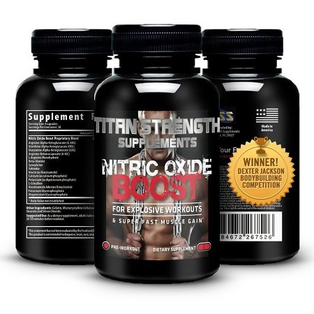 Top Nitric Oxide Booster on White Background