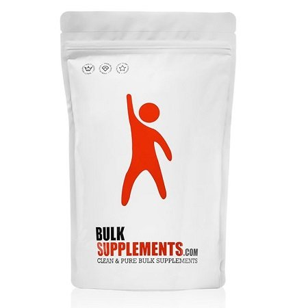 Whey Protein Powder Isolate By BulkSupplements on White Background